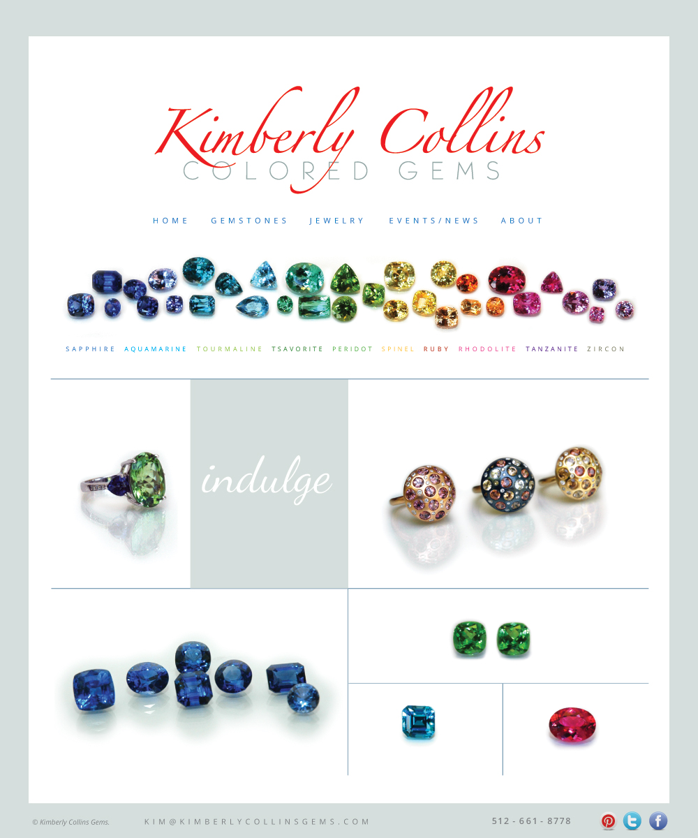 Kimberly Collins Colored Gems Website